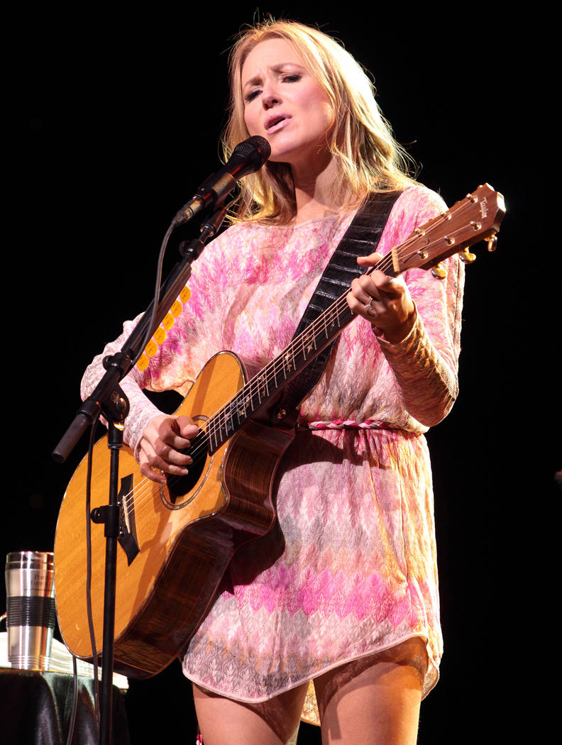 Singer-songwriter Jewel performs on her Greatest Hits Tour at the American Music Theatre on Thursday, March 14, 2013, in Lancaster, Pa. (Photo by Owen Sweeney/Invision/AP)
