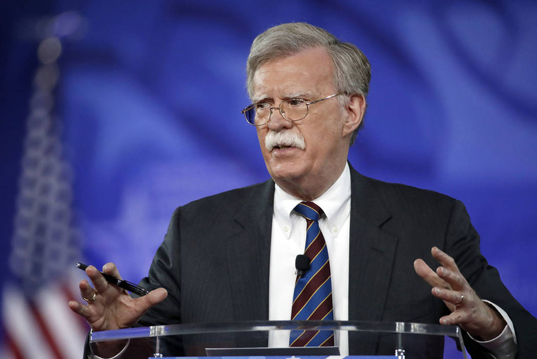 John Bolton speaks at the Conservative Political Action Conference (CPAC) in Oxon Hill, Md., in 2017. (AP Photo/Alex Brandon)