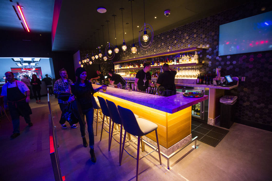 A bar area at Esports Arena Las Vegas at the Luxor in Las Vegas on Thursday, March 22, 2018. Chase Stevens Las Vegas Review-Journal @csstevensphoto