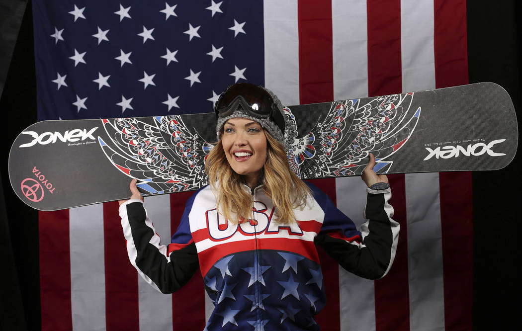 U.S. Olympic Winter Games Paralympic snowboarding hopeful Amy Purdy poses for a portrait at the 2017 Team USA media summit Wednesday, Sept. 27, 2017, in Park City, Utah. (AP Photo/Rick Bowmer)