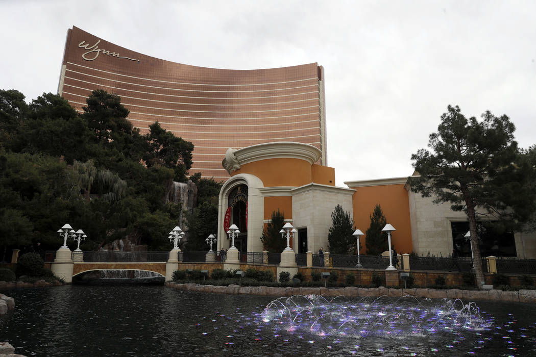 Wynn Las Vegas is pictured in Las Vegas, Feb. 19, 2018. The state of Oregon has sued Nevada gambling mogul Steve Wynn and the board of directors of Wynn Resorts Ltd. for allegedly failing to act i ...