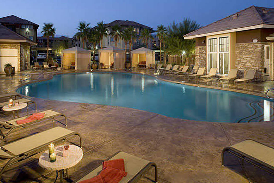 Investors bought the 426-unit Arrow Canyon apartment complex in North Las Vegas, seen above, for almost $60 million in February. They renamed it Norterra Canyon. (Curated Communications)