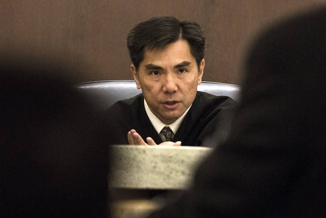 Nevada Court of Appeals Judge Jerome Tao during the first Court of Appeals hearing, Wednesday, March 25, 2015 at Regional Justice Center,  200 Lewis Avenue. The appeals court chose a product liabi ...