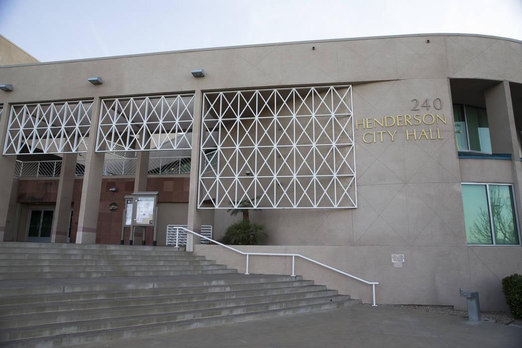 Henderson City Hall in Henderson, Tuesday, March 6, 2018. Erik Verduzco Las Vegas Review-Journal @Erik_Verduzco
