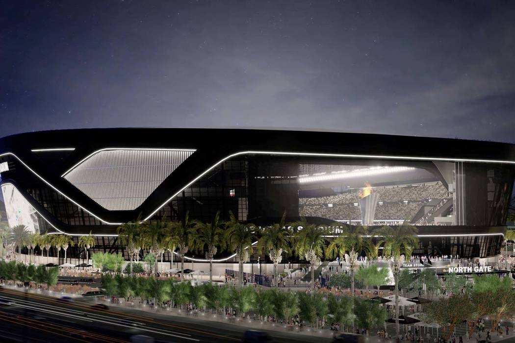 Rendering of the new Raiders stadium being constructed in Las Vegas. (Las Vegas Stadium Authority)