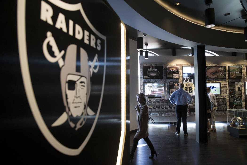 Inside the Raiders Preview Center at Town Square Las Vegas in Las Vegas, Tuesday, Feb. 6, 2018. (Erik Verduzco/Las Vegas Review-Journal)  @Erik_Verduzco