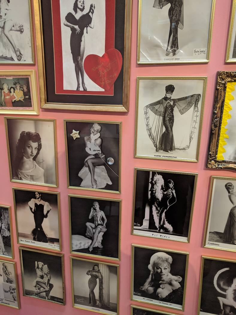 A look at the exhibit space at the Burlesque Hall of Fame, which celebrates its reopening on April 17, 2018. (Burlesque Hall of Fame)