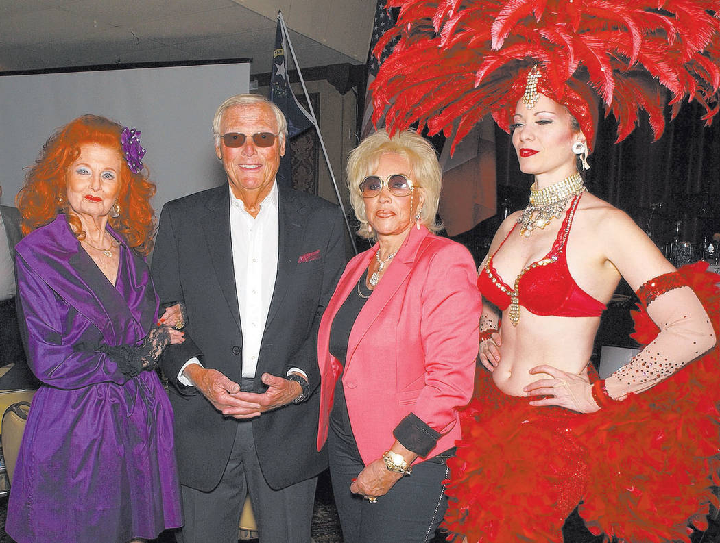 From left, Tempest Storm, Adam West, Annee Nounna and Venna Roseland (Courtesy)