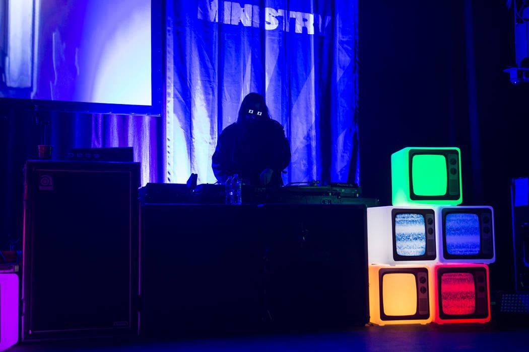 DJ Swamp of Ministry performs at Brooklyn Bowl in Las Vegas on Saturday, March 24, 2018. Chase Stevens Las Vegas Review-Journal @csstevensphoto