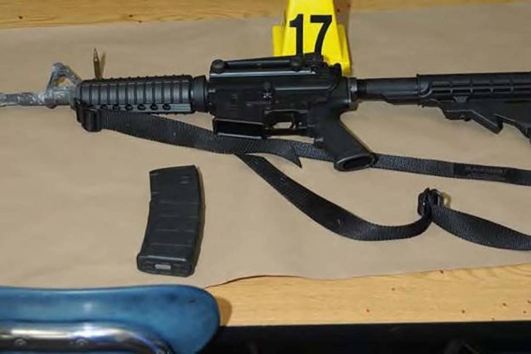 A Bushmaster rifle belonging to Sandy Hook Elementary school gunman Adam Lanza in Newtown, Connecticut is seen after its recovery at the school in this police evidence photo released by the state' ...