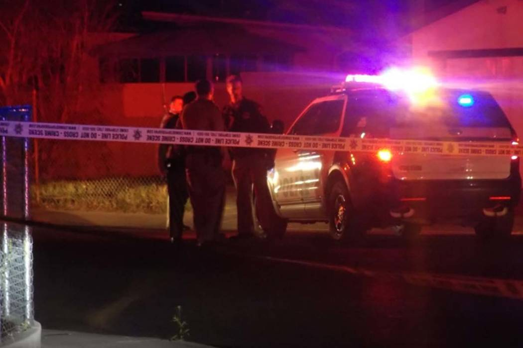 Las Vegas police on Monday morning blocked off a portion of an east valley neighborhood near the intersection of Sacramento Drive and Sunrise Avenue. (Max Michor/Las Vegas Review-Journal)
