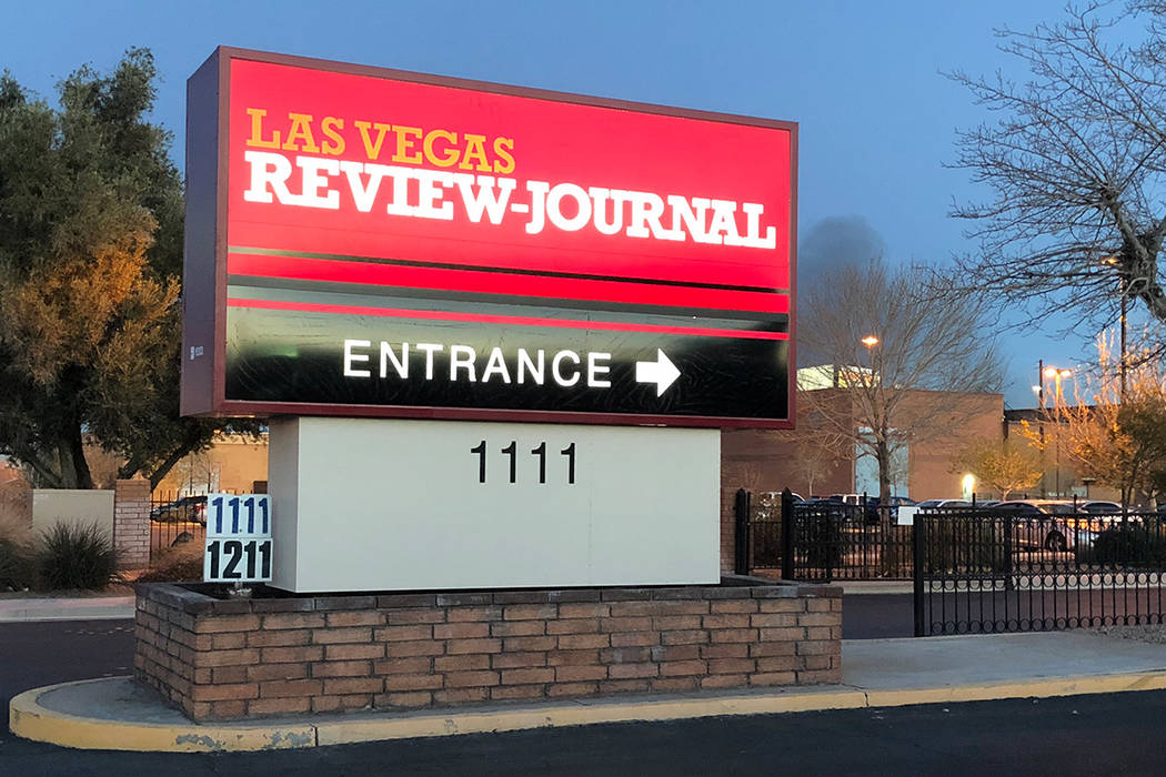 The Las Vegas Review-Journal at 1111 W. Bonanza Rd. in Las Vegas.