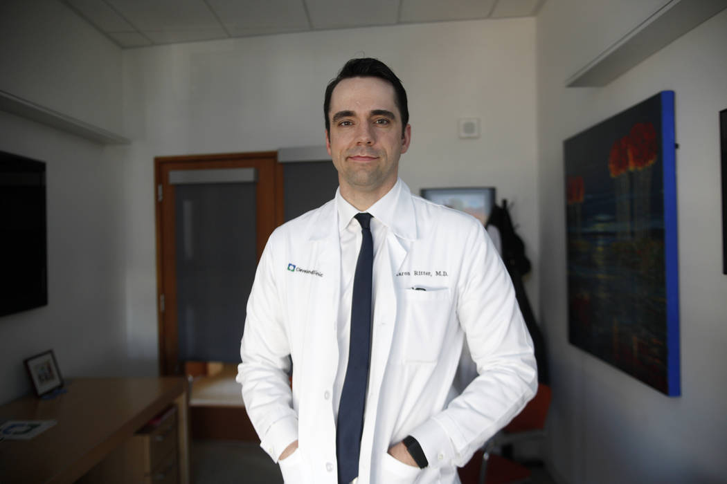 Dr. Aaron Ritter, director of clinical trials at the Lou Ruvo Center for Brain Health at the Cleveland Clinic in Las Vegas, Monday, March 26, 2018. A new study released Tuesday by the Alzheimer's  ...