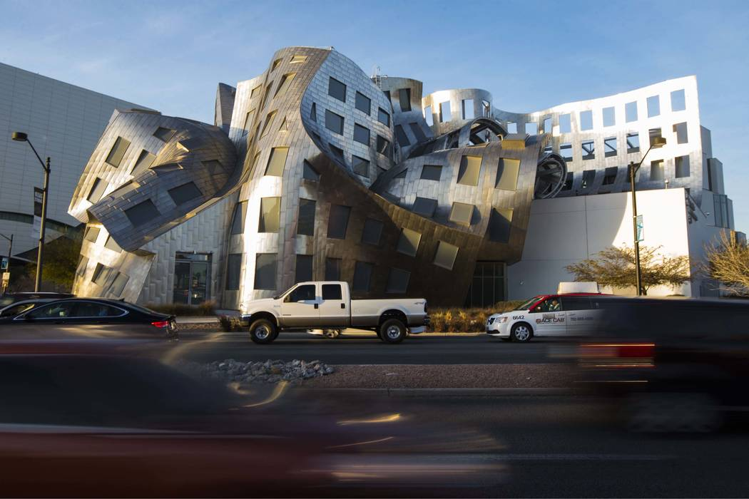 The Cleveland Clinic Lou Ruvo Center for Brain Health, designed by architect Frank Gehry, in Las Vegas on Tuesday, Jan. 30, 2018. (Chase Stevens/Las Vegas Review-Journal) @csstevensphoto