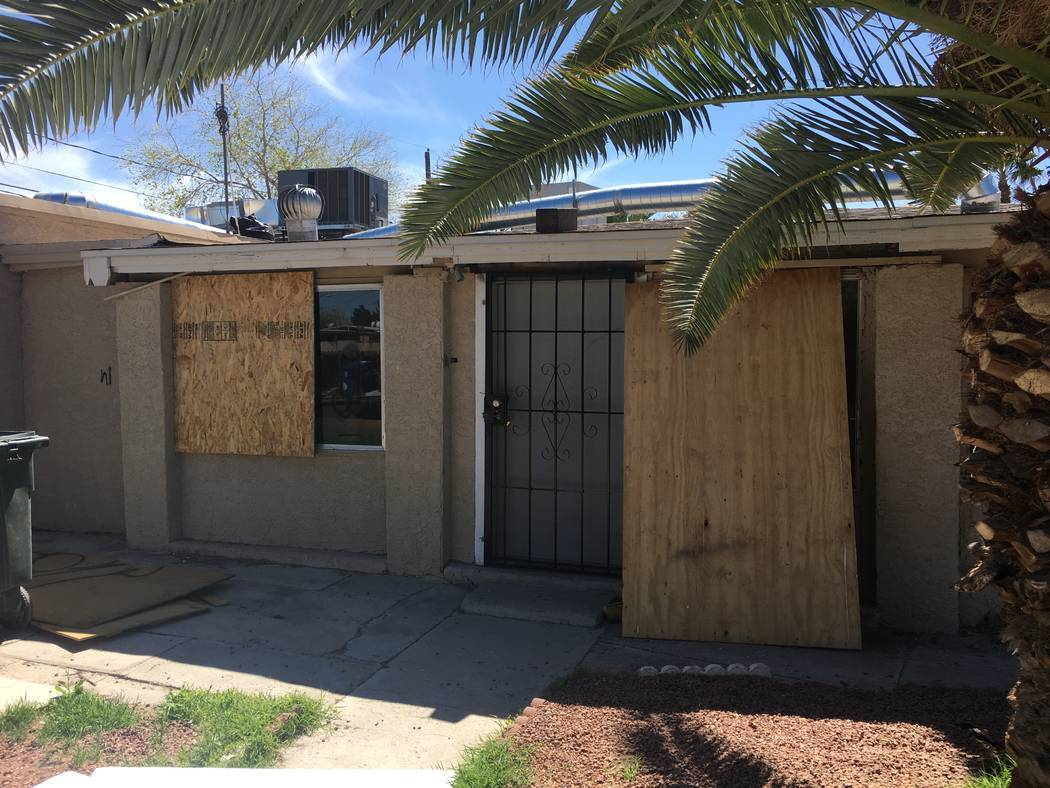 This home at 2636 Magnet St. in North Las Vegas, seen on Monday, March 26, 2018, has increased in value more than fivefold since the recession.  (Eli Segall/Las Vegas Review-Journal) @eli_segall