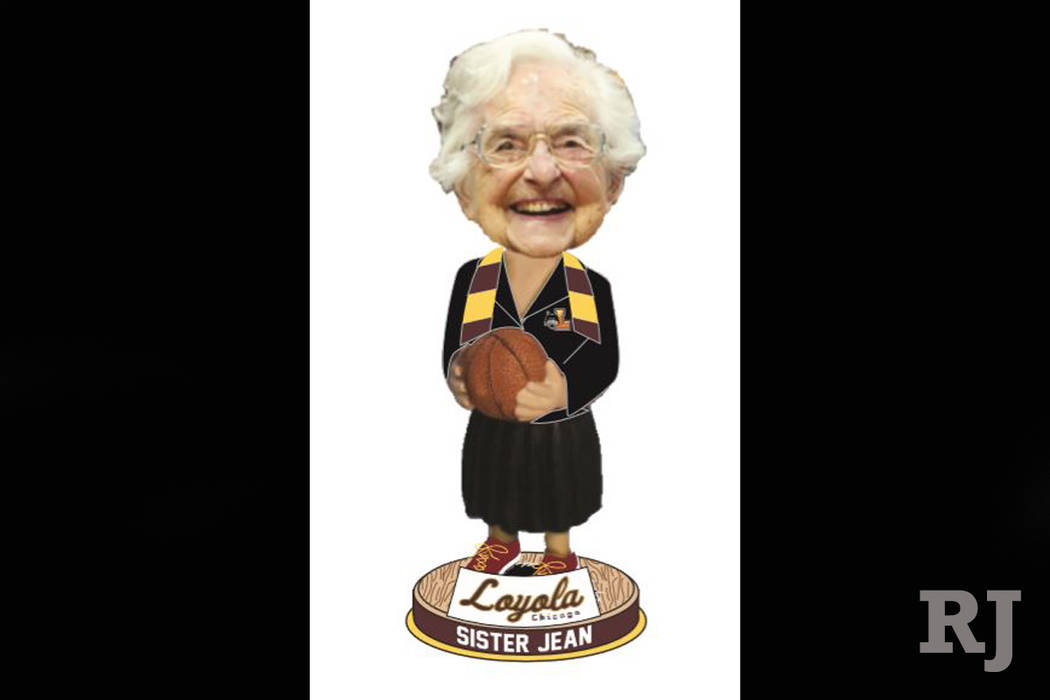 Sister Jean bobblehead depiction from the National Bobblehead Hall of Fame and Museum. (National Bobblehead Hall of Fame)