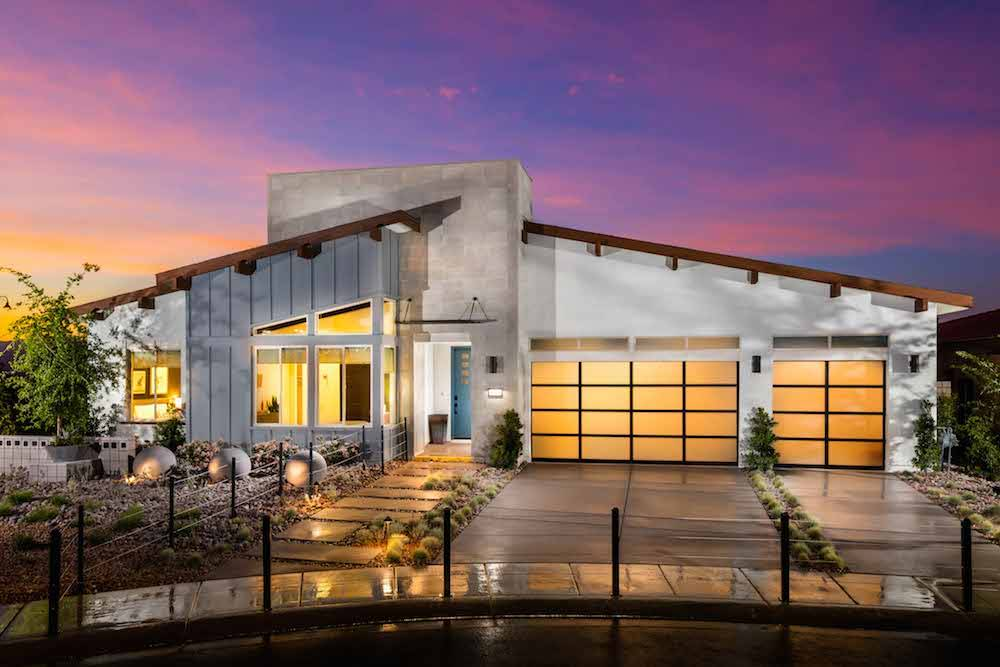 Pardee Home's Escala neighborhood in Inspirada, a master-planned community in Henderson, features midcentury architecture. (Pardee Homes)