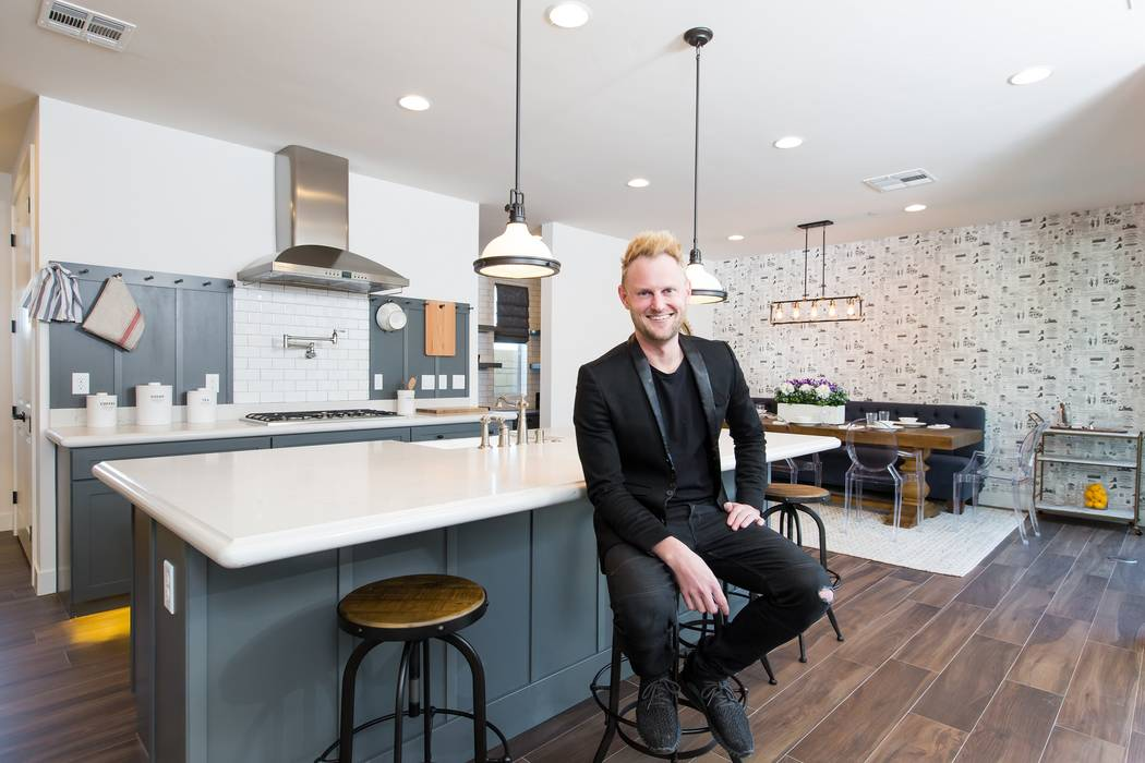 Celebrity designer Bobby Berk at Pardee Homes' Strada model home, which features his designs. (Pardee Homes)