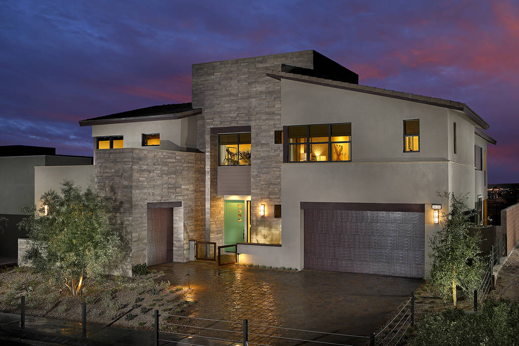Pardee Homes Nova Ridge by Pardee Homes in Summerlin is one of several neighborhoods where the builder is incorporating midcentury architecture.