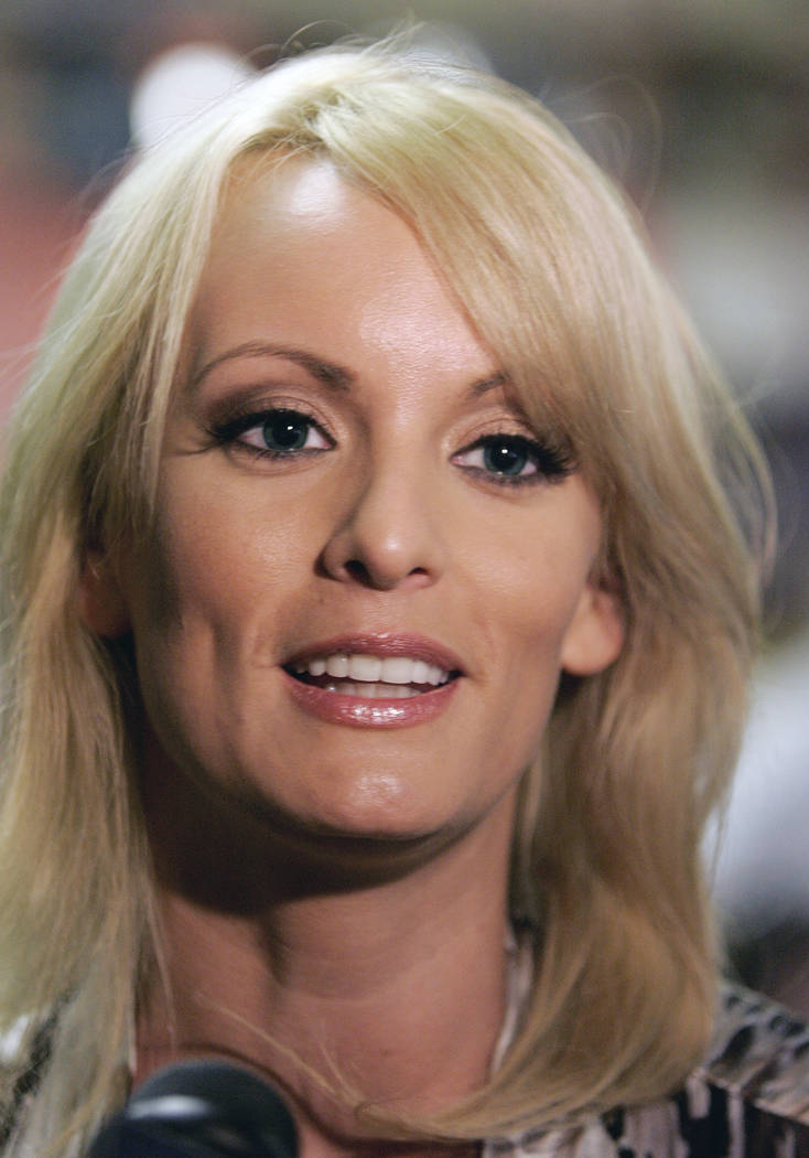 Stormy Daniels visits a local restaurant in downtown New Orleans, May 6, 2009. The adult film actress who said she had sex with President Donald Trump is offering to return the $130,000 she was pa ...