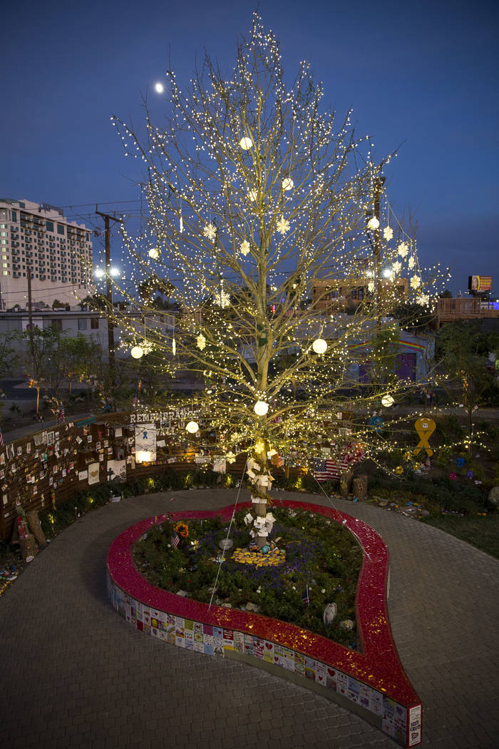 A view of the Community Healing Garden in downtown Las Vegas, Thursday, Nov. 30, 2017. Richard Brian Las Vegas Review-Journal @vegasphotograph