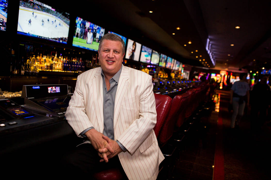 Derek Stevens, CEO and owner of the D Las Vegas, at the Long Bar in D Las Vegas on Thursday, Feb. 15, 2018.  Patrick Connolly Las Vegas Review-Journal @PConnPie