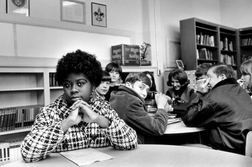 This undated file photo, location unknown, shows Linda Brown. Brown, the Kansas girl at the center of the 1954 U.S. Supreme Court ruling that struck down racial segregation in schools, has died at ...