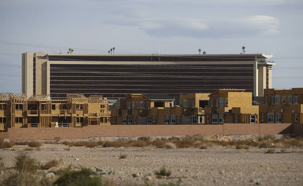 Construction Goes On In The Affinity Housing Development Summerlin Area Of Las Vegas