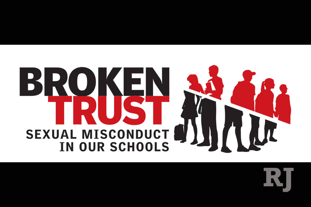 Broken Trust, the RJ's investigation into sexual misconduct within Las Vegas' Clark County School District. (Severiano Galvan/Las Vegas Review-Journal)
