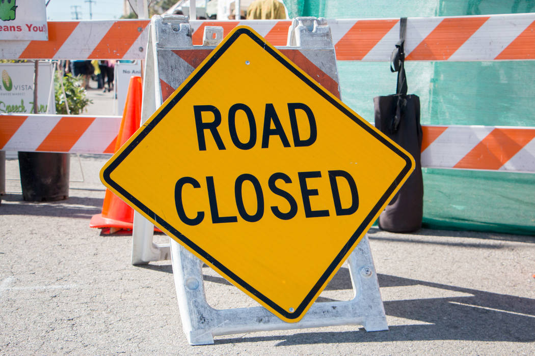 Oakey Boulevard will be closed to through traffic beneath Interstate 15 from 10 p.m. Friday to 5 a.m. Tuesday. (Thinkstock)