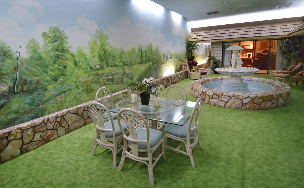 Instead of grass, green carpet covers the ground. (Bill Hughes Real Estate Millions)