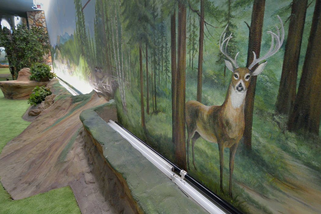 Entrepreneur Jerry Henderson built the home as a bomb shelter in 1978. He had murals depicting wooded areas painted on the walls.