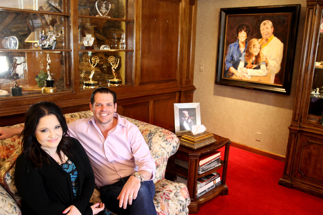 Jerry Lewis' daughter Danielle Lewis and Sean McClenahan, who is like a son to Jerry Lewis, at the family's home Thursday, March 29, 2018. The two-story home at 1701 Waldman Ave. in the Scotch 80s ...
