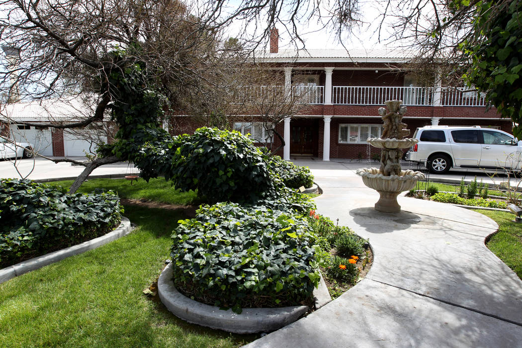 Jerry Lewis' family home Thursday, March 29, 2018. The two-story home at 1701 Waldman Ave. in the Scotch 80s neighborhood in downtown Las Vegas is for sale for $1.4 million. K.M. Cannon Las Vegas  ...