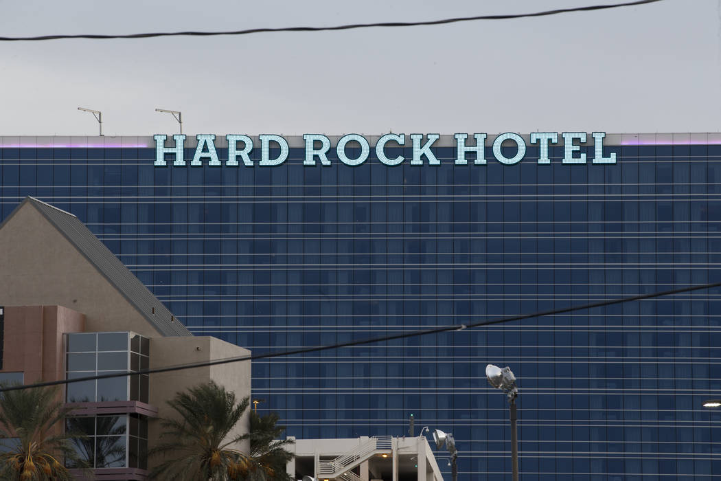 The Hard Rock Hotel in Las Vegas, Friday, Jan. 19, 2018. Erik Verduzco Las Vegas Review-Journal @Erik_Verduzco