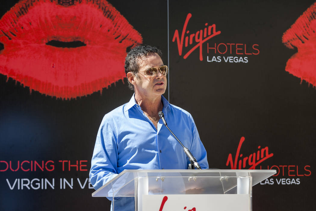 Virgin Hotels CEO Raul Leal speaks at a press conference at the Hard Rock Hotel in Las Vegas on Friday, March 30, 2018.  Patrick Connolly Las Vegas Review-Journal @PConnPie