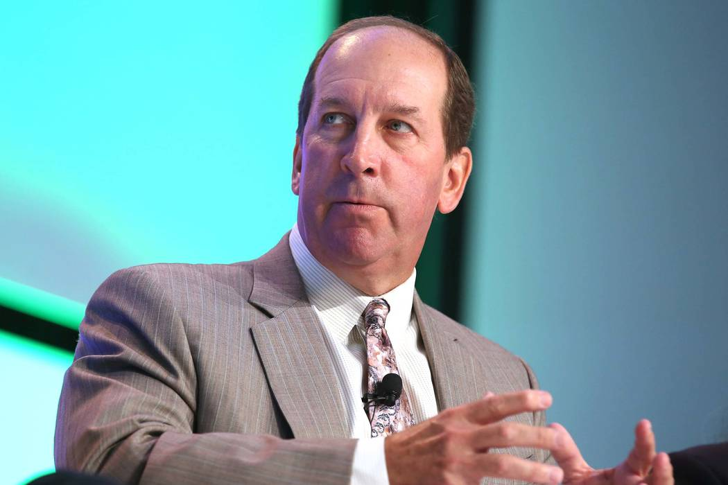 Timothy Wilmott, president and CEO of Penn National Gaming, speaks during the Global Gaming Expo at the Las Vegas Sands Expo and Convention Center on Thursday, Sept. 29, 2016. Las Vegas Review-Jou ...