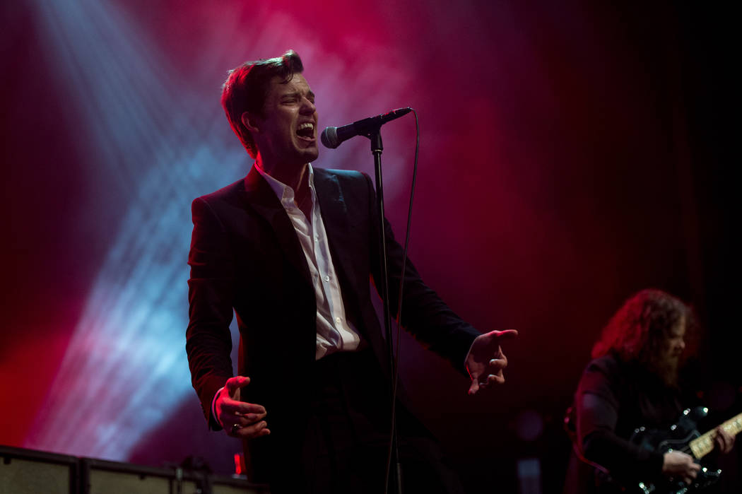 Brandon Flowers and The Killers perform Monday during Night 2 of Holiday Havoc at The Pearl at the Palms (Rob Loud).