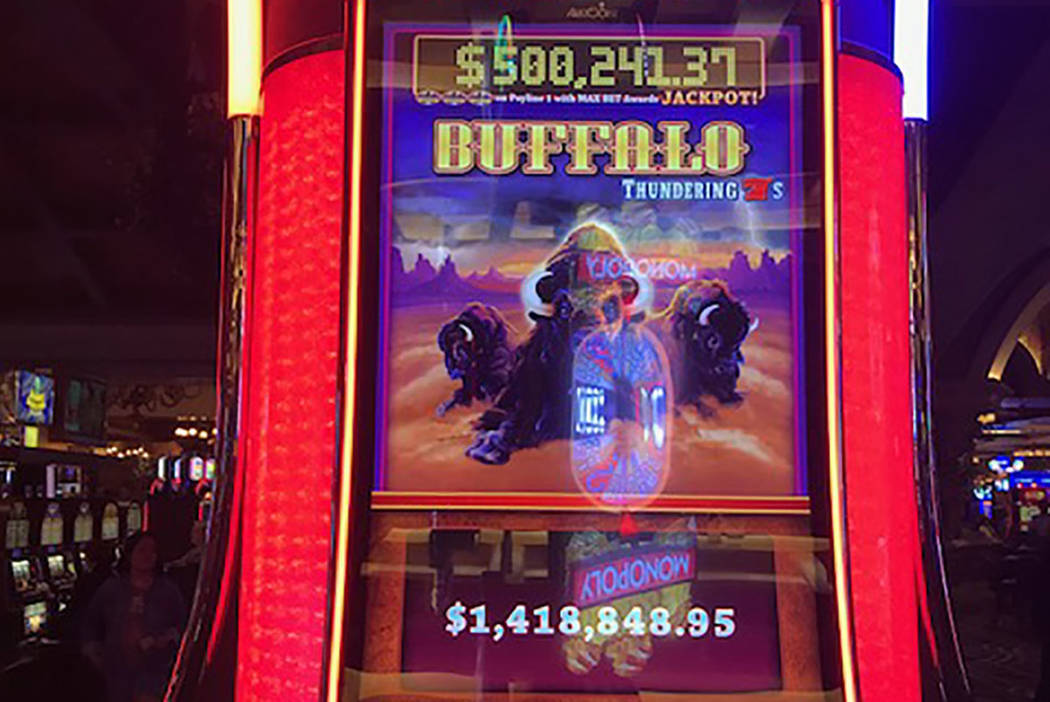 The winning Buffalo slot machine is seen at Green Valley Ranch Resort in Henderson. (Station Casinos)