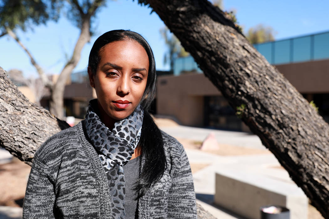 Rebecca Avera, a Jewish Ethiopian woman who is currently serving as The Jewish Agency's Israeli emissary, poses for a photo in Las Vegas, Jan. 11, 2018. The 31-year-old has witnessed both ends of  ...
