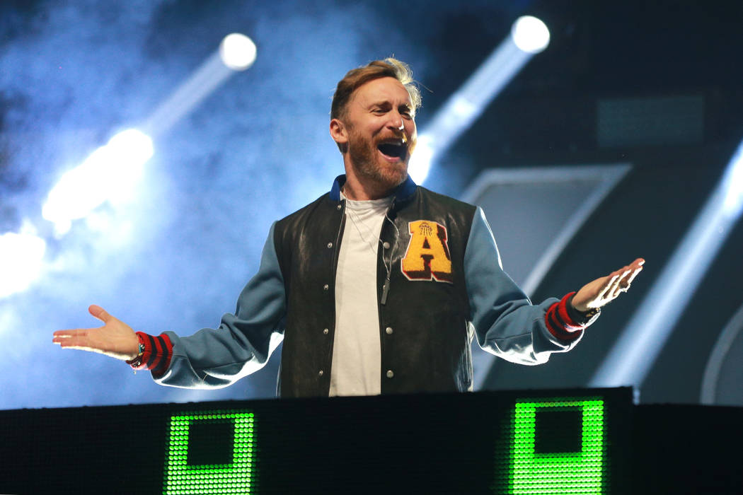 David Guetta performs onstage during the 2017 iHeartRadio Music Festival at T-Mobile Arena on September 22, 2017 in Las Vegas, Nevada.  (Rich Fury/Getty Images for iHeartMedia)