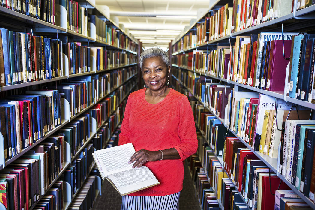 Claytee White is the director of the Oral History Research Center at UNLV Libraries. Photo taken on Tuesday, Aug 29, 2017, at UNLV's Lied Library, in Las Vegas. Benjamin Hager Las Vegas Review-Jou ...