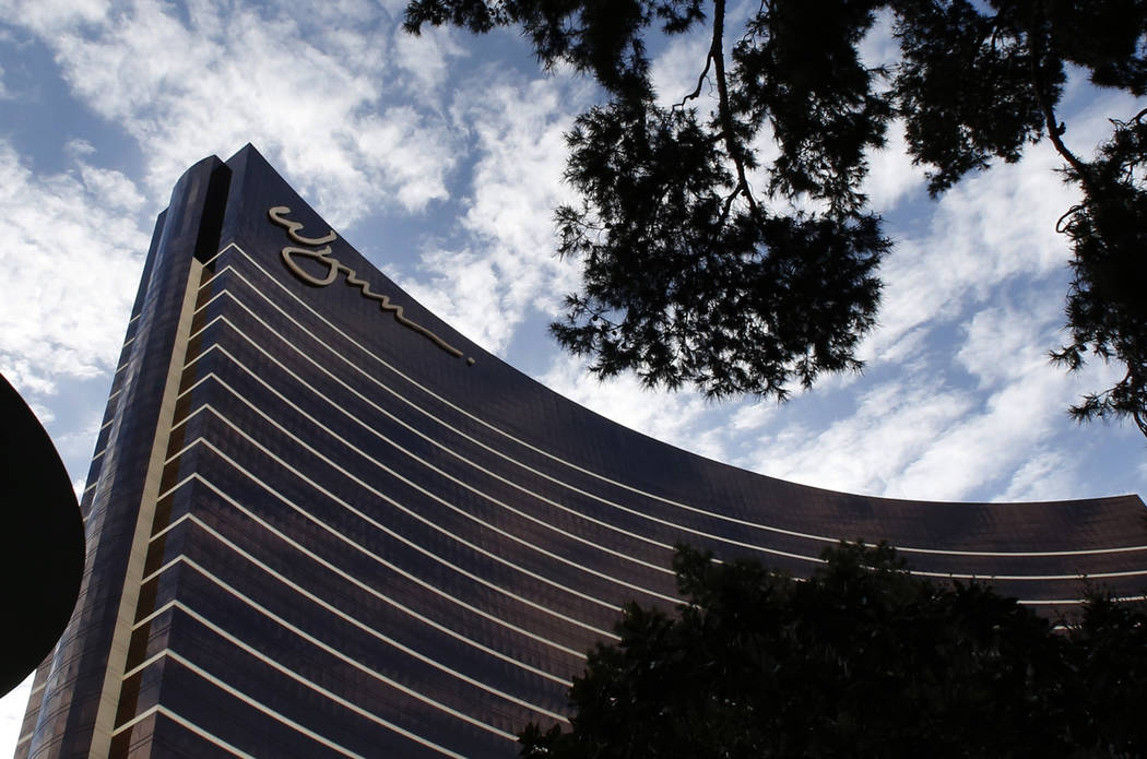 Wynn hotel-casino photographed on Thursday, April 5, 2018, in Las Vegas. Wynn directors receive $310,000 annually, including $250,000 in the form of company stock, according to market data provide ...