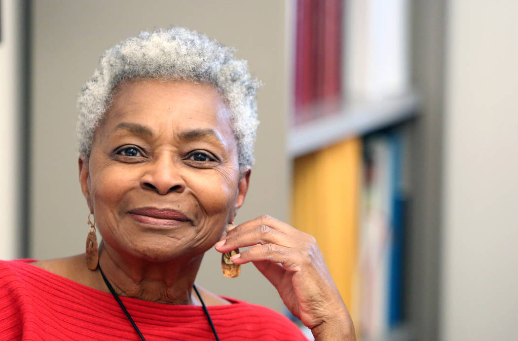Claytee White, director of the Oral History at UNLV, pauses during an interview with the Las Vegas Review-Journal on Tuesday, March 20, 2018, in Las Vegas. Bizuayehu Tesfaye/Las Vegas Review-Journ ...