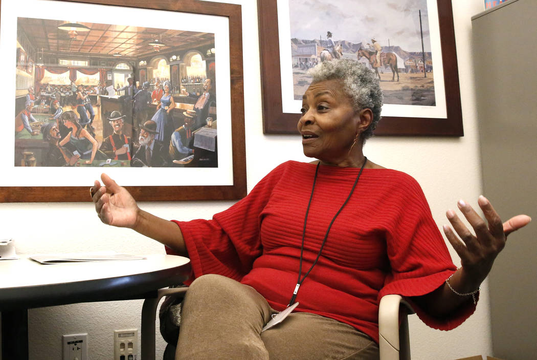 Claytee White, director of the Oral History at UNLV, speaks during an interview with the Las Vegas Review-Journal on Tuesday, March 20, 2018, in Las Vegas. Bizuayehu Tesfaye/Las Vegas Review-Journ ...