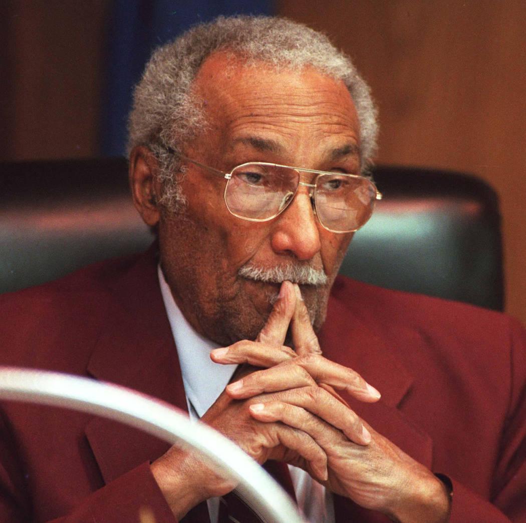 Dr. James McMillan, pictured in 1996, was a Clark County School board member. (Jeff Scheid/Las Vegas Review-Journal)