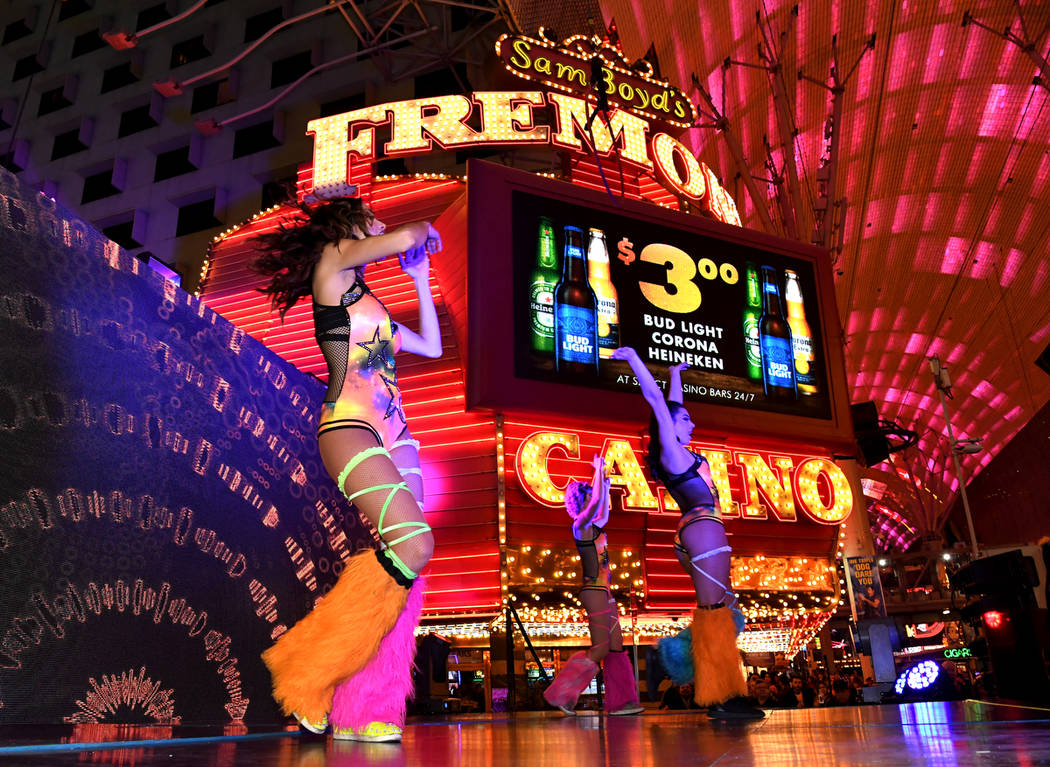 """""""America's Party 2018,"""" the fireworks and entertainment extravaganza, rang in the New Year in classic Las Vegas style. In downtown Las Vegas at the Fremont Street Experience, party-goers saw both ..."""