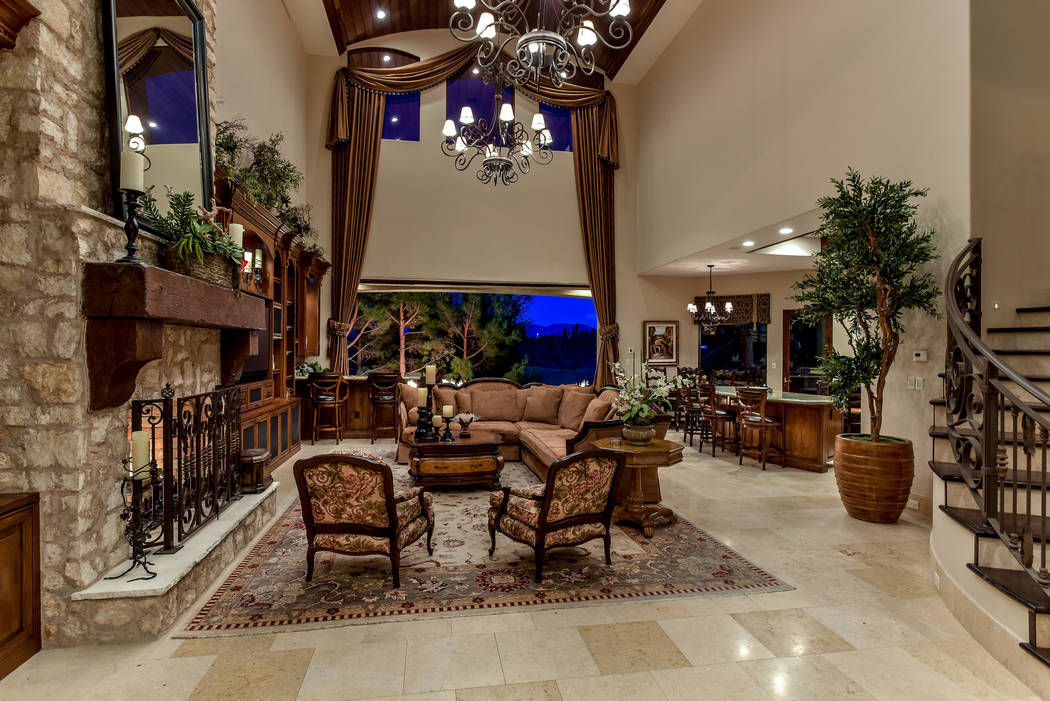 The home has a Tuscan design with modern indoor-outdoor features. (Today's Realty Inc.)