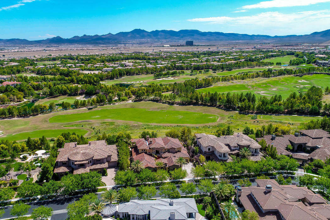 The home sits on the 16th hole of Southern Highlands Golf Course. (Today's Realty Inc.)