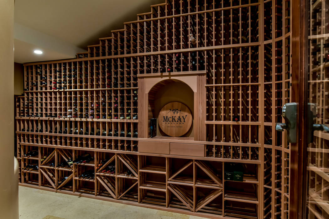 The wine cellar can hold more than 1,200 bottles. (Today's Realty Inc.)